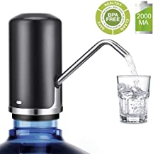 5 gallon water dispenser, USB Charging Portable Electric Drinking Water Bottle Pump Dispenser [2000MA battery powered](black)