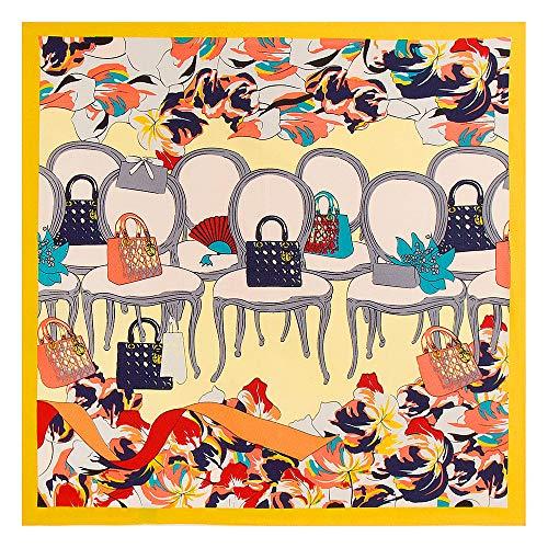 WEJNNI Imitatie zijden sjaal 60cm*60cm twill kruk zak dame kleine vierkante sjaal