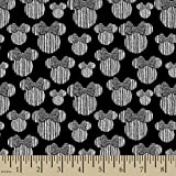 Disney Minnie Minnie Heads Fabric, Black