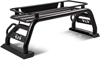 Heavy Duty Aluminum Roll Bar Cage + Roof Cargo Rack Bracket for Toyota Tacoma 15-19
