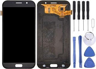 قطع غيار QFH شاشة LCD ومحول رقمي مجموعة كاملة من أجل Galaxy A7 (2017)، A720F، A720F/DS(Black) طقم استبدال شاشات الهاتف الم...