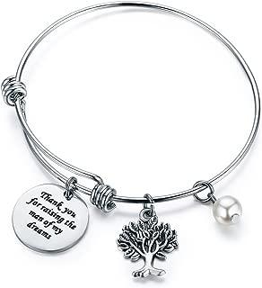CJ&M Mother in Law Gift Family Tree Bracelet - Thank You for Raising The Man/I Will Take Care of Her Always Bracelet