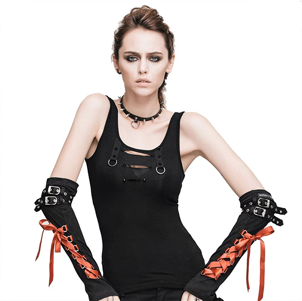 Gothic Punk Women Sexy Vests Sleeveless Blouse Ti Tops Sale price Sales for sale Steampunk
