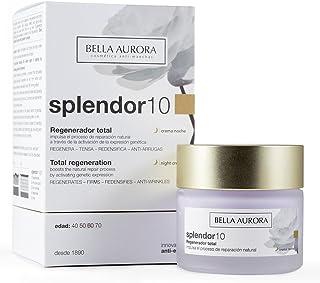 Bella Aurora Splendor 10 Crema Facial Hidratante Anti-Edad Mujer Regenerador Total Noche Tratamiento Anti-Arrugas para la ...
