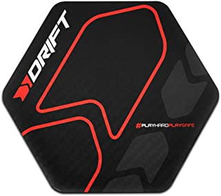 Drift Floor Pad -DRFLOORPAD- Alfombrilla Gaming de Suelo, Vinilo Texturizado, Hexagonal, Resistente al agua, Antideslizante, 88 x 100 x 0,3 cm, color negro