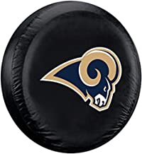 غطاء إطارات فريمونت دي NFL Los Angeles Rams No Tire CoverLarge، أسود، كبير