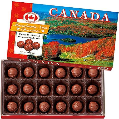 カナダ 土産 カナダ マカデミアナッツチョコレート 1箱 (海外旅行 カナダ お土産)