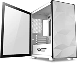 $49 » darkFlash Micro ATX Mini ITX Tower MicroATX Computer Case with Magnetic Design Wide Open Door Opening Swing Type Tempered Glass Side Panel (DLM21 White)