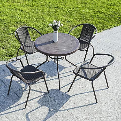 LYN bijzettafel, 5 stuks - 4-zits, tuinmeubelen, terrasplanken of balkontafel en stoel