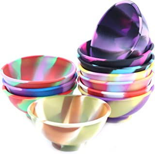 Wusteg 11 Pieces Mini Silicone Bowls Multicolored Pinch Bowls Reusable Snack Bowls Silicone Condiment Bowls Resistant Bowl...