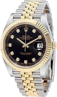 Rolex Datejust 41 Black Diamond Dial Stee and 18K Yellow Gold Jubilee Mens Watch 12633BKDJ