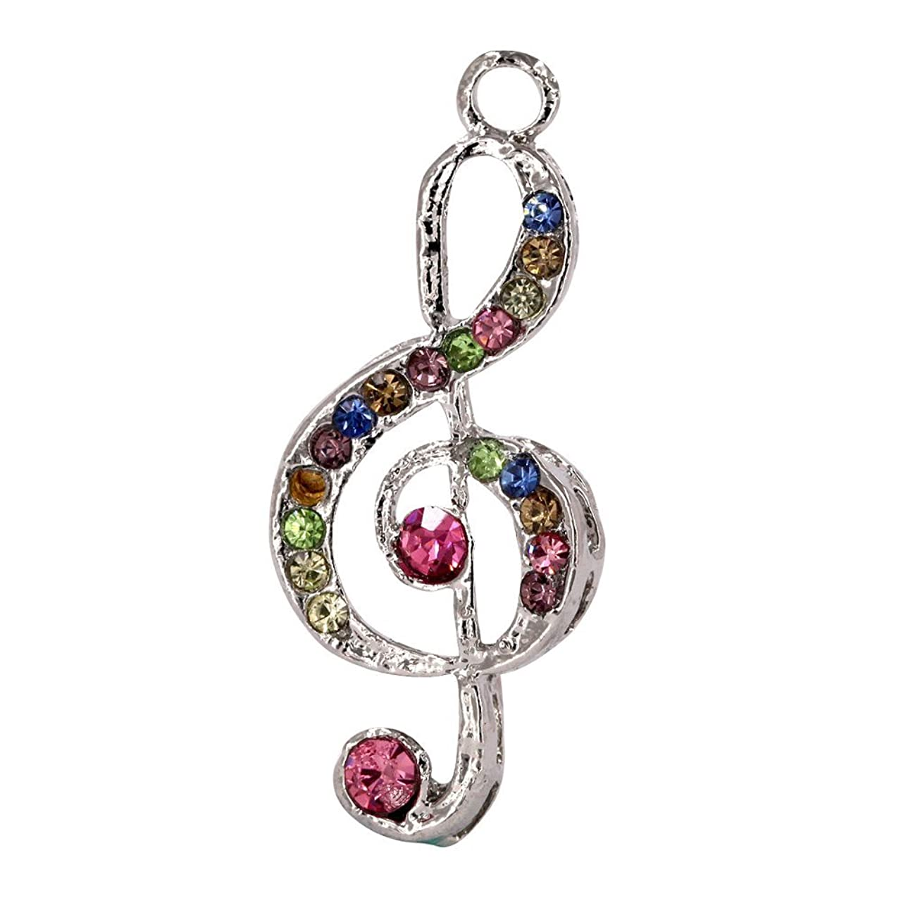 Creative DIY Crystal Music Note Charms Pendants Wholesale (Set of 3) MH287