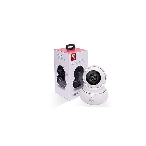 Cámara IP Full HD Littlelf, Cámara de Vigilancia Exterior e Interior, Inalámbrica, Monitor Pan 350° y 105° de Inclinación, Control Remoto a través de las Aplicaciones, Recepción Vigilancia CCTV Cam, Cámara Panorámica 3D, Vigilancia a Distancia Bebés y Mascota (720p Blanca)