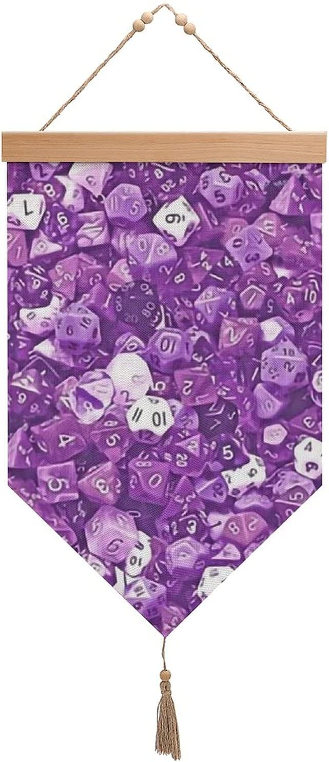 sea purple dice Cotton and Cash special price linen with Seattle Mall Exhibition flags H tassels