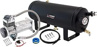 Vixen Horns 1.5 Gallon (5.6 Liter) Train/Air Horn Tank with 200 PSI Compressor Onboard System/Kit 12V VXO8315