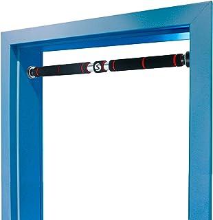 comprar comparacion Sportastisch Top¹ Barra de dominadas Powerful (sin tornillos) | Barra de puerta con empuñaduras acolchadas y brazos telesc...