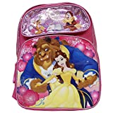 2017 New Arrive Disney Beauty And The Beast 16' Pink Canvas School Backpack