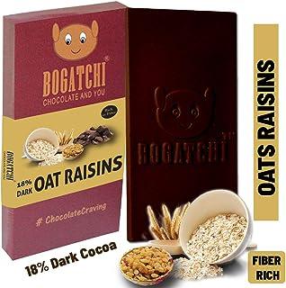 BOGATCHI Oats Healthy Chocolate Bar with Raisins , 80g