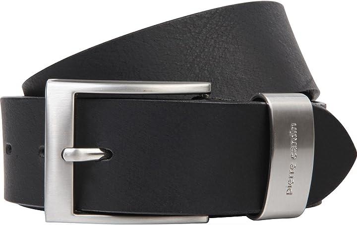 Cintura da uomo in vera pelle pierre cardin 1070007-010-140
