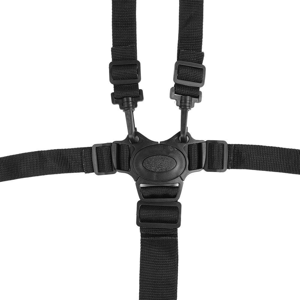 Holder Replacement Safety Security Belts Stroller Children Pushchair Rotating Protection Adjustable High Chair Straps Universal Baby 5 Point Harness Belt for Wooden Highchair Pram