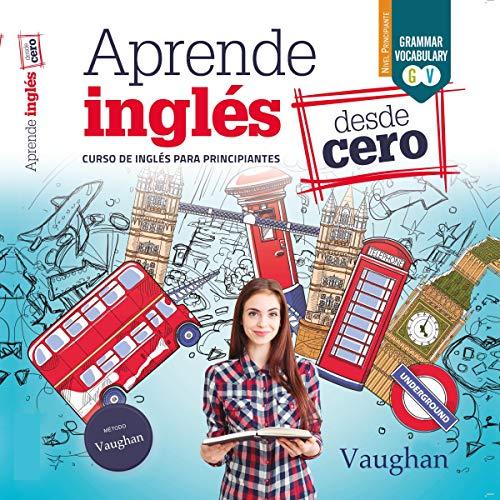 Diseño de la portada del título Aprende inglés desde Cero