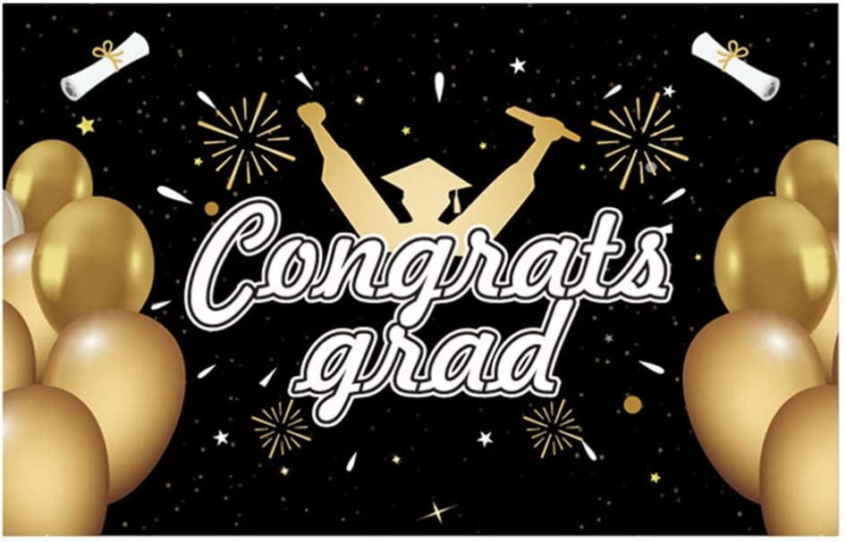 NUOBESTY 2021 Graduation Banner Grad Balloon Limited Special Price Polyester Latest item Congrats