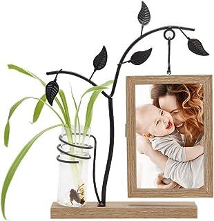 Afuly 木製 フォトフレーム 写真たて ナチュラル ユニーク 一輪挿し かわいい おしゃれ インテリア 飾り物 プレミアム 誕生日 ギフト プレゼント 母の日
