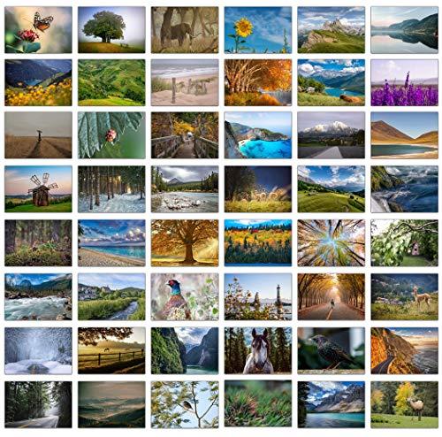 Set bestehend aus 48 Blankokarten/ Grußkarten mit wunderschönen Landschaftsfotos und 48 Umschlägen