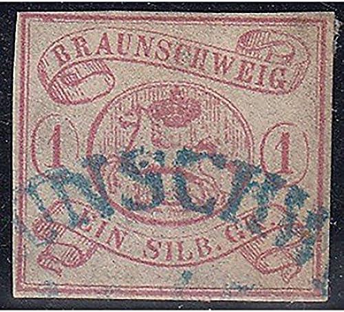 Goldhahn BraunschWeiß Nr. 1 gestempelt geprüft Briefmarken für Sammler