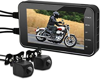 ESoku MT003 Motorcycle Dash Cam 1080P Dual Lens Motorcycle Recording Camera System, 160°Wide Angle, 4.0