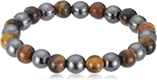 Power Unisex Magnetic Hematite and Tiger Eye beads Bracelet