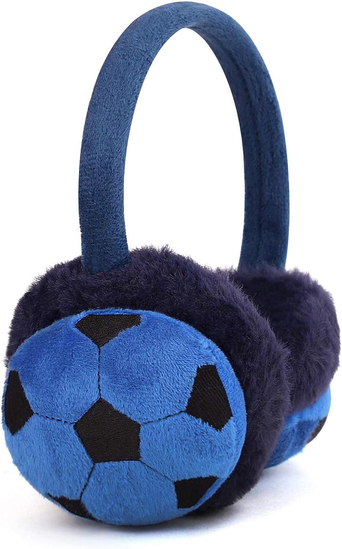Kid Warm Ear Cover Cute Soccer Mice Bear Smile Winter Ear Warmer Earmuff for Outdoor Sports