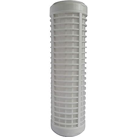 """AQUAWATER - 104986 - Cartouche de filtration Nylon lavable 50µ - Pour bol de taille standard 10"""", pour filtrer les impuretés de l'eau de la maison - Durée de la cartouche : 12 mois"""
