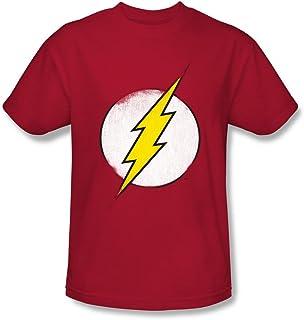 DC Comics Rough Flash Logo Playera para Hombre