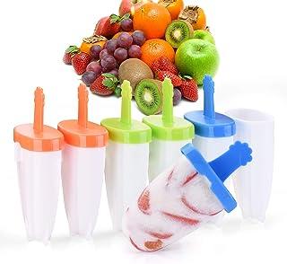 Moldes Para Helados, Multifuncional Moldes de Paletas para Niños Certificado LFGB libre de BPA,6 Fabricantes de Paletas Heladas, Molde Reutilizables para Hacer Helados Caseros Molde Helado