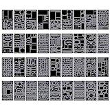 Biubee 36 Pcs Plastic Stencils Over 1500 Different Patterns - 4'...