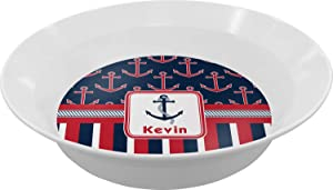 Nautical Anchors & Stripes Dinner Set - 4 Pc (Personalized)