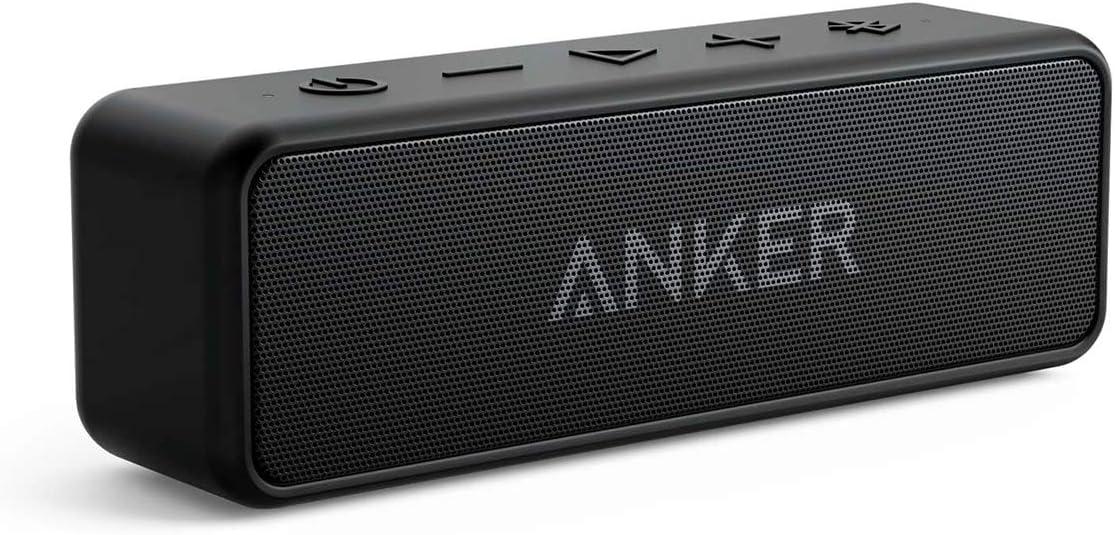 Anker SoundCore 2 Bluetooth Lautsprecher, Fantastischer Sound, Enormer Bass mit Dualen Bass-Treibern, 24h Akku, Verbesserter IPX7 Wasserschutz,...