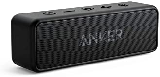 Anker Soundcore 2 Portable Bluetooth Speaker with 12W Stereo Sound, Bluetooth 5, Bassup, IPX7 Waterproof, 24-Hour Pla...