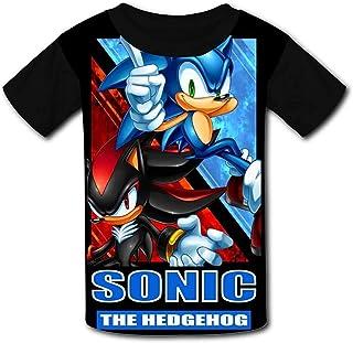 guoweiweiB Camisetas de Manga Corta para niño, So-N-IC The Hedgehog Shadow Poster Boys/Girls T-Shirts Youth Tees Short Sle...