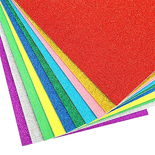 QFDM DIY Dekoration 5 Blätter/Tasche aus Schaumpapier 20x30cm Papier Gold Schwamm Papier Pulver Handgemachte Papierdekoration DIY Partydekoration (Color : Random Mix)