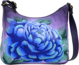 Leather Hobo Shoulder Hand Painted Handbag Bag Large