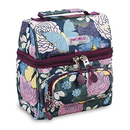 J World New York Corey Lunch Bag, Secret Garden, One Size