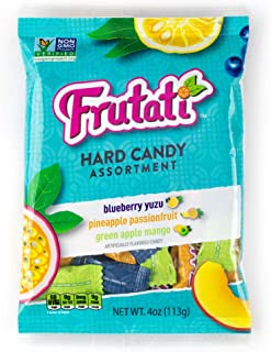 Frutati Hard Candy Variety Pack - Green Apple Mango, Pineapple Passionfruit, and Blueberry Yuzu - Non-GMO - Individually W...