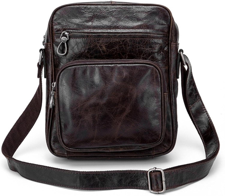 Sturdy Fashian Men's Leather Messenger Shoulder Handbag Vintage Briefcase Crossbody Day Handbag for School and Work Large Capacity (color   Black)