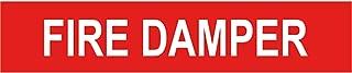 Safety Alert Sticker Decals Safety Sign Vinly Decal Fire Damper Pipe Label Danger Notice Warning Safe Sticker Lables for Indoor & Outdoor Use Waterproof 12.5