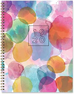 Abstract Watercolor Dots Large Weekly Monthly 2020 Planner: July 2019 - June 2020 (Academic School Year, Student Planner)