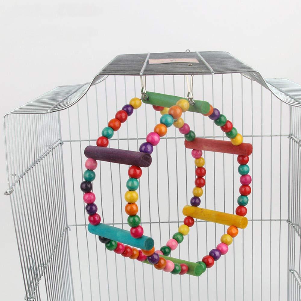 MJBABY Soporte para Loros Soporte para Columpios de Juguete Accesorios para jaulas de pájaros Suministros para pájaros Escalera de Mano Escalera de Tiro de Loro Claro-do: Amazon.es: Productos para mascotas
