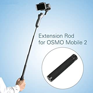 Cochanvie 6 Segments Restractable Aluminum Alloy Handle Stick for OSMO Mobile 2 3/ Feiyu/Zhiyun Smooth Q 4 and Other Handh...