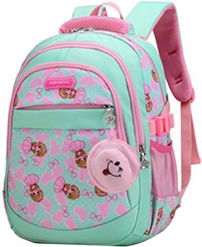 SEJNGF Kinder Schultasche mädchen Rucksack Canvas Leichte Multi-Tasche L ig Rucksack